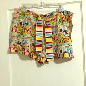 Disney Vintage Print Pajama Bottoms